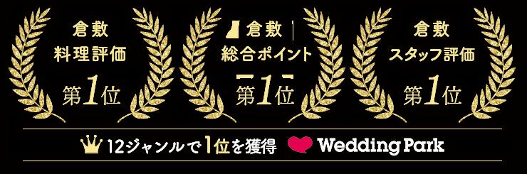全18ジャンルでTOP10入り by Wedding Park